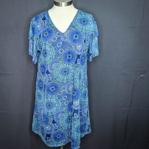 Notations NY Collection Womens Dress Plus 2X Blue
